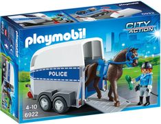 Playmobil 6922 Policist s konjem in prikolico
