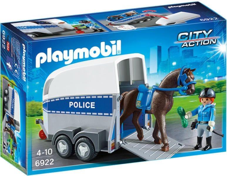 Playmobil 6922 Policejní přívěs pro koně