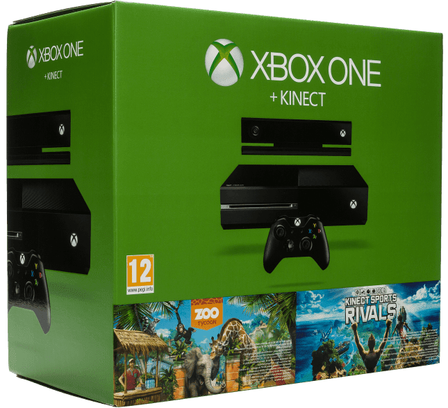 Microsoft Xbox One 500GB se senzorem Kinect + Dance Central Spotlight + Zoo Tycoon + Kinect Sports Rivals