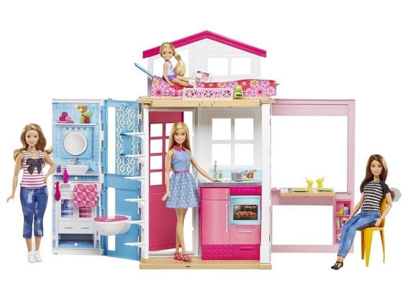 Mattel Barbie dům 2 v 1 s panenkou