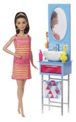 Mattel Barbie punčka in oprema kopalnica