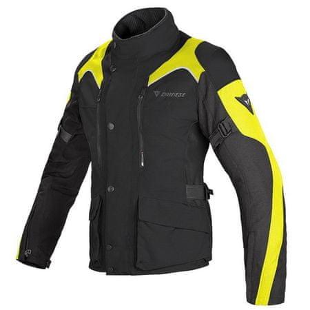 Dainese bunda dámská TEMPEST D-DRY LADY vel.40 černá/černá/fluo žlutá, textilní