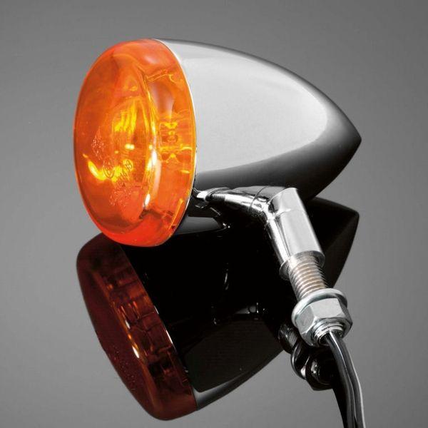 Highway-Hawk moto blinkry TECH GLIDE smooth 60mm, E-mark, chrom (1ks)