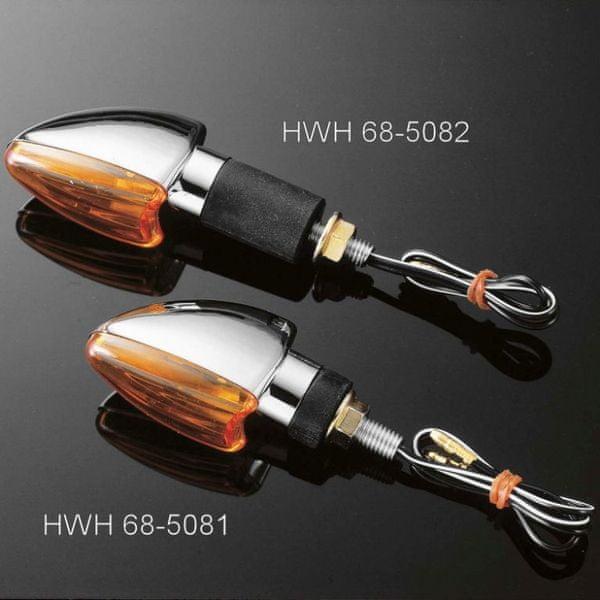Highway-Hawk moto blinkry DIAMOND s krátkou nožičkou, chrom (2ks)