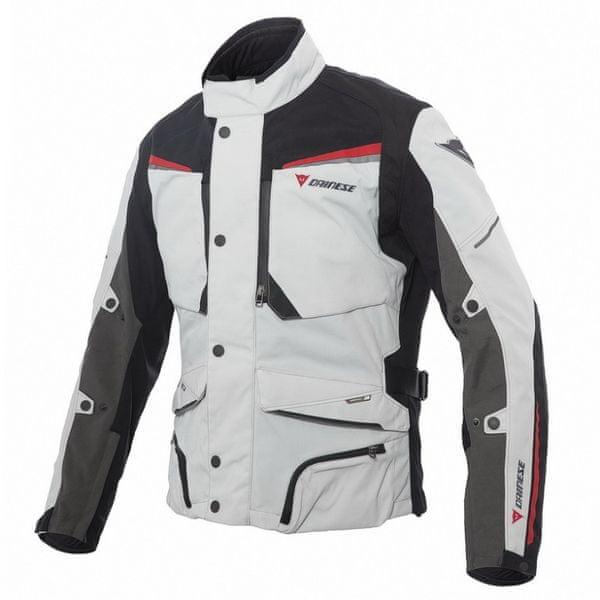 Dainese bunda SANDSTORM GORE-TEX vel.54 světle šedá/černá/červená, textilní