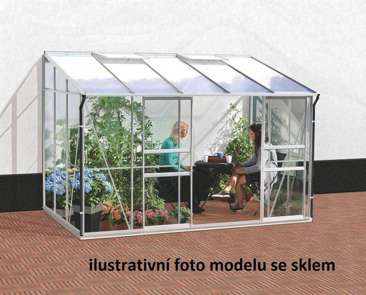 VITAVIA skleník VITAVIA IDA 6500 PC 4 mm stříbrný