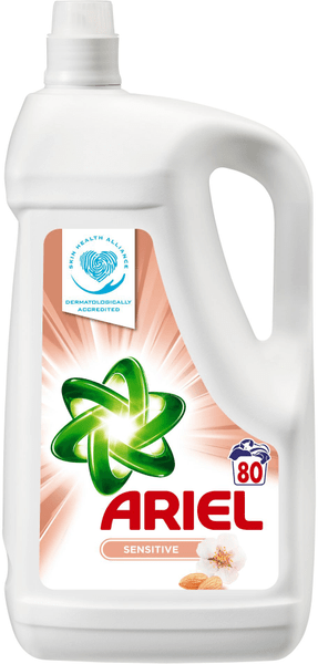Ariel Sensitive gel 5,2 l, 80 praní