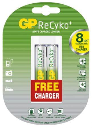GP polnilne baterije ReCyko Ni. Mh 2 x AA