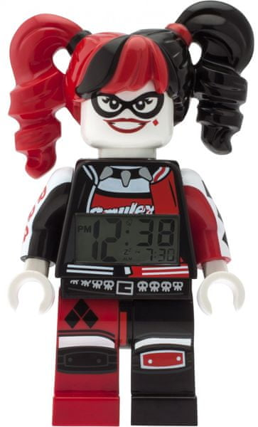 LEGO® Batman Movie Harley Quinn - hodiny s budíkem