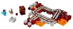 LEGO Minecraft 21130 Linia Kolejowa w Netherz