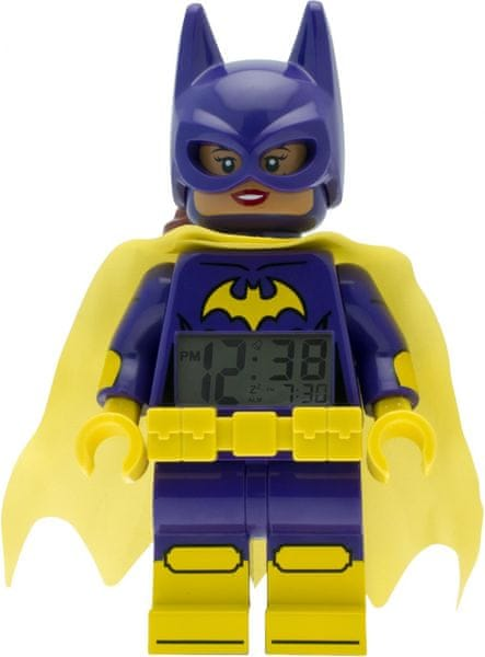 LEGO® Batman Movie Batgirl - hodiny s budíkem