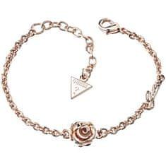 Guess Růžově pozlacený náramek s růží UBB21526-S