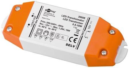 Goobay napajalnik za LED trakove, 12V/15W
