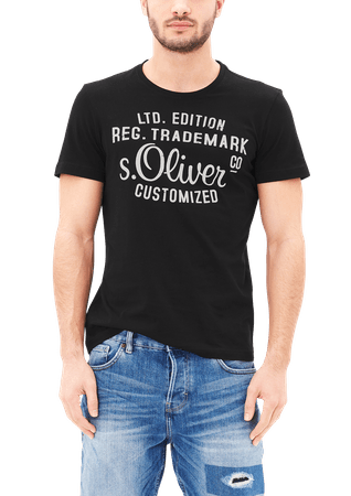 s.Oliver pánské tričko L čierna