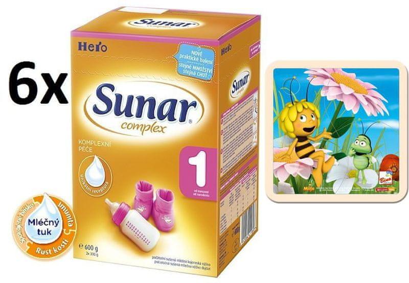 Sunar Complex 1 - 6 x 600g + Puzzle Včelka Mája