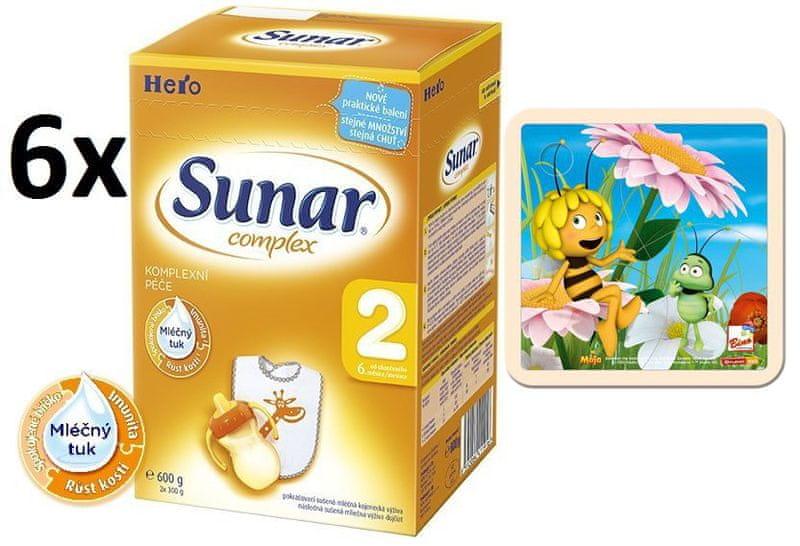 Sunar Complex 2 - 6 x 600g + Puzzle Včelka Mája