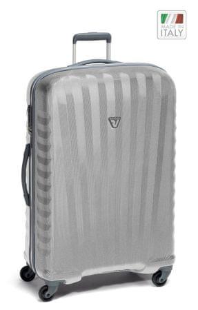 Roncato kovček 4W Uno Zip, velik, siv/srebrn