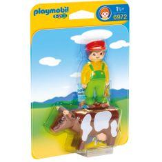 Playmobil 6972 Farmář s kravičkou (1.2.3)