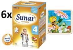 Sunar Complex 4 jahoda - 6 x 600g + Puzzle Včelka Mája