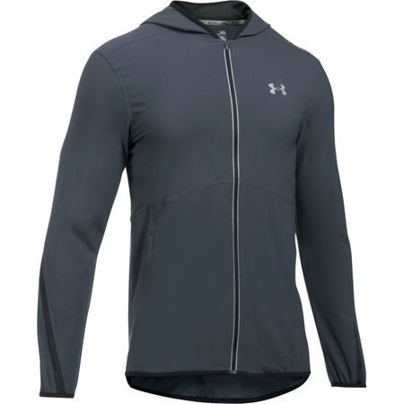 Under Armour Run True SW Jacket Stealth Gray Black Reflective M
