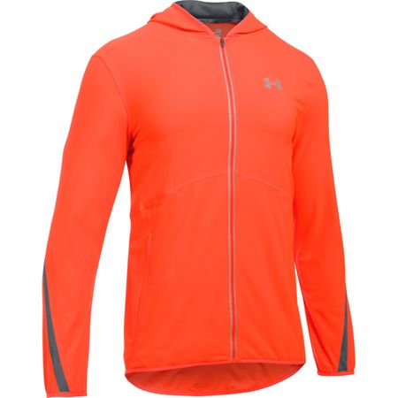 Under Armour kurtka Run True SW Jacket Phoenix Fire Rhino Gray Reflective S