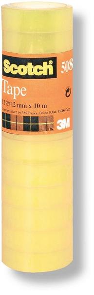 Lepicí páska kancelářská 19 mm x 10 m /8 ks transparentní