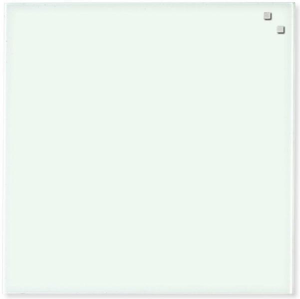 Skleněná magnetická tabule NAGA bílá 45x45 cm