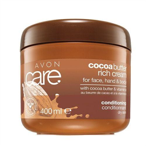 Avon Pečující krém na obličej a tělo s kakaovým máslem a vitamínem E Care (Cocoa Butter Rich Cream) 400 m