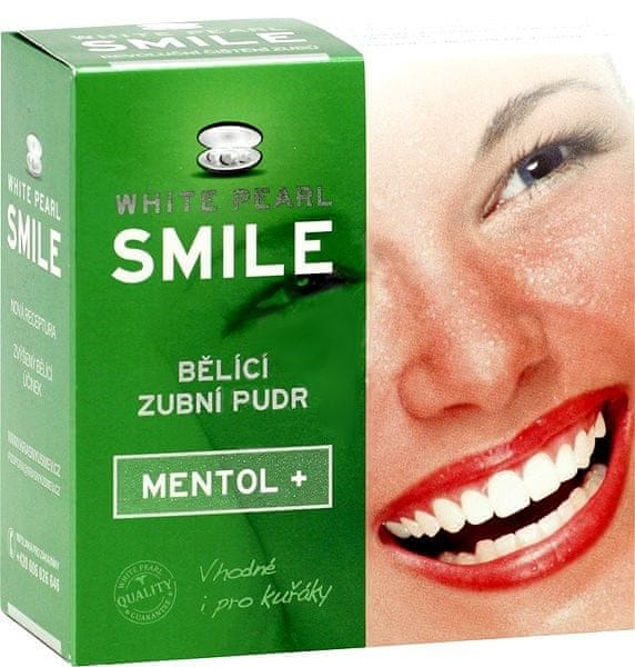 White Pearl Smile Bělící pudr Mentol+ 30 g