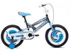 Capriolo dječji bicikl MUSTANG 9, sivo-plavi