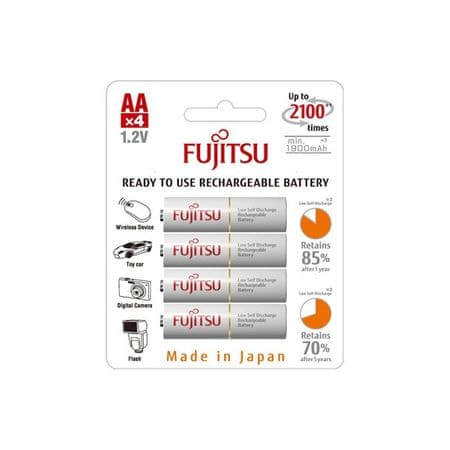Fujitsu polnilne baterije HR-3UTC AA, 4 kosi