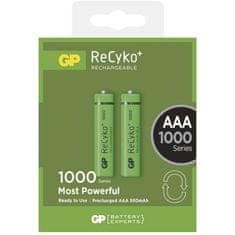 GP polnilna baterija ReCyko+ 1000 HR03 (AAA), 2 kosa