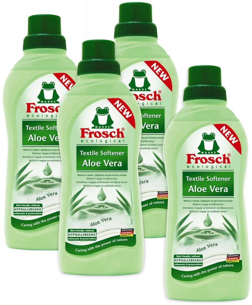 Frosch Eko Hypoalergenní aviváž Aloe Vera 4x750 ml