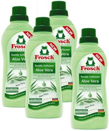 Frosch Eko hipoalergenski mehčalec Aloe Vera, 4 x 750 ml
