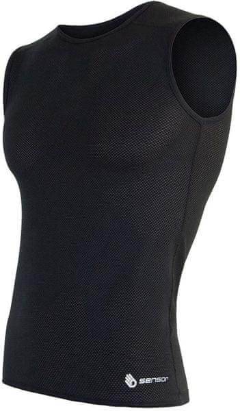 Sensor Coolmax Fresh Air pánské triko bez rukávů černá L