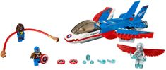LEGO® Super Heroes 76076 Kapitán America a honička ve stíhačce