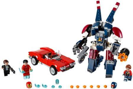 LEGO Super Heroes 76077 Iron Man: jekleni napad v Detroidu
