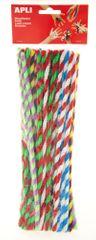 Modelovací drátky APLI twist barevný mix/50 ks