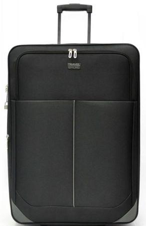 Travel and More kovček, velik, 45 x 72 x 29 cm, črn