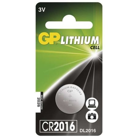 GP baterija Lithium CR2016 1BL 3V, 1 kos