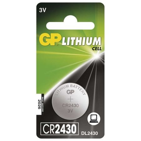 GP baterija Lithium CR2430 1BL 3V, 1 kos