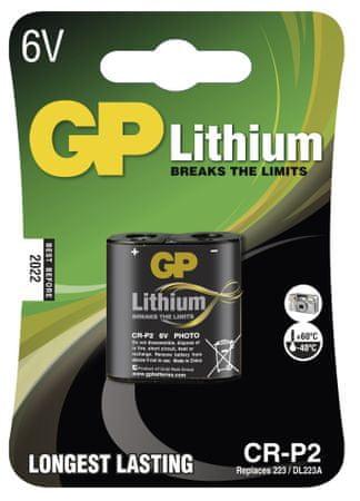 GP baterija Lithium CR-P2 1BL, 1 kos