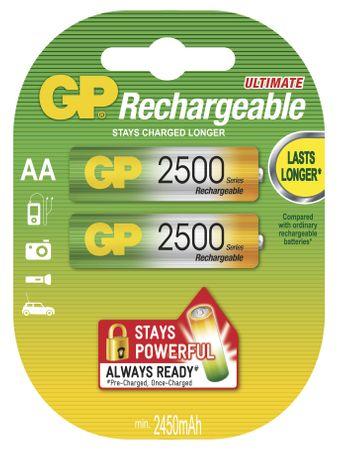 GP polnilne baterije HR6 2500 2BL, 2 kosa