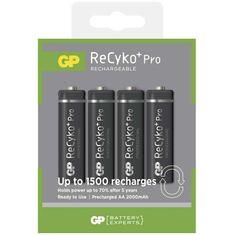 GP polnilna baterija ReCyko+ Pro Professional HR6 (AA), 4 kosi