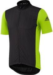 Adidas moška kolesarska majica Supernova Reflectivity SS, črna/zelena
