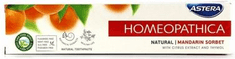 Astera Homeopatica naravna zobna krema Natural, mandarin sorbet, 75 ml