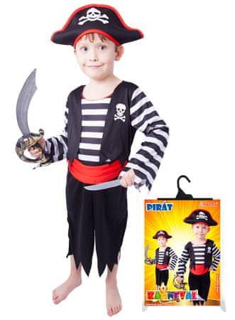 Rappa Kostým pirát s čepicí S  d3856163f76