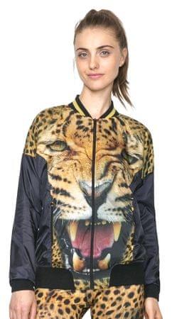 Desigual dámská leopardí bunda M okrová