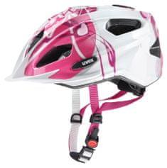 Uvex kolesarska čelada Quatro Junior 2017, roza/srebrna