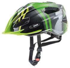 Uvex kolesarska čelada Quatro Junior 2017, zeleno-črna